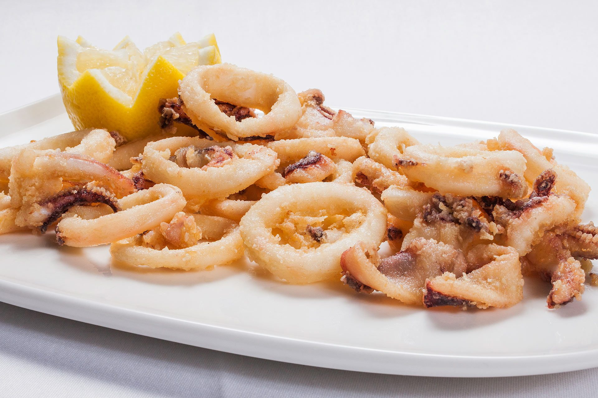 Fresh fried squids at Casa Ramón Restaurant in Oviedo