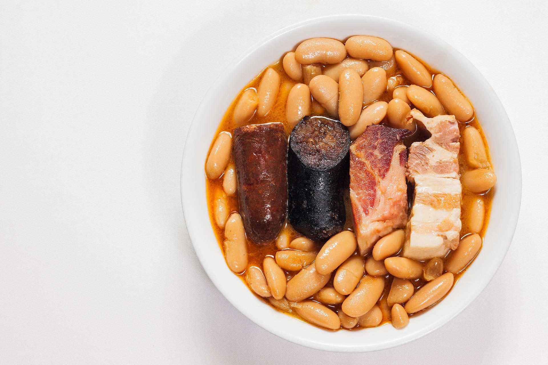 Fabada Asturiana del Restaurante Casa Ramón en Oviedo
