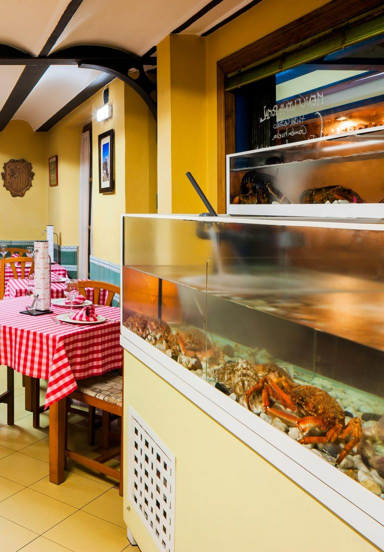 Shellfish farm at Casa Ramón in Oviedo
